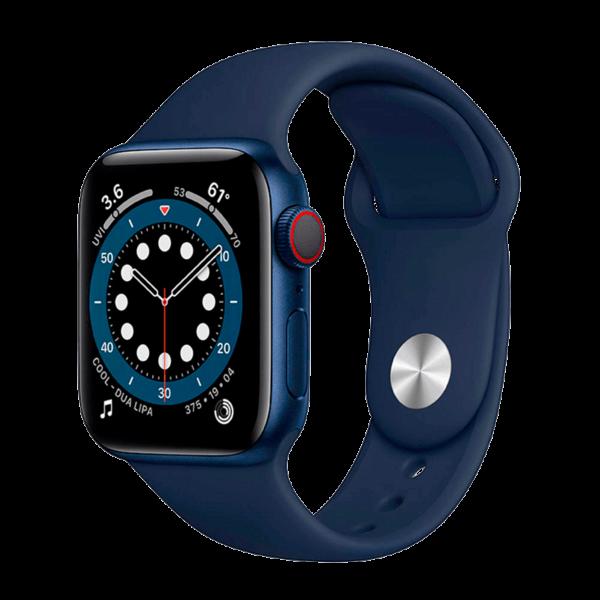 Apple Watch Series 6 Acero Inoxidable 44 mm GPS + Cellular Azul / Azul Marino