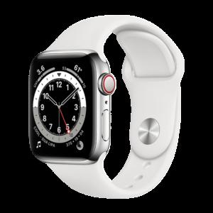 Apple Watch Series 6 Aluminio 44 mm GPS + Cellular Plata/Blanca