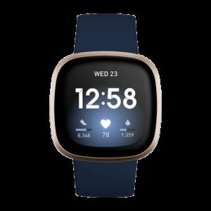 Fitbit Versa 3 Aluminio Dorado / Azul Medianoche