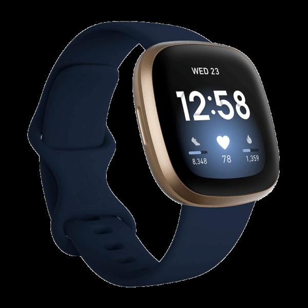 Fitbit Versa 3 Aluminio Dorado/Azul Medianoche