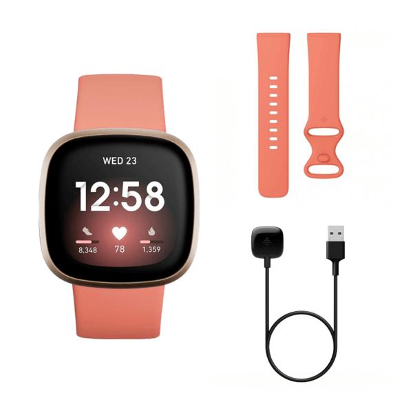 Fitbit Versa 3 Aluminio Dorado/Rosa