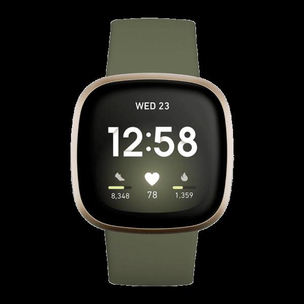 Fitbit Versa 3 Aluminio Dorado/Verde Oliva