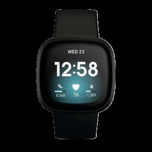 Fitbit Versa 3 Aluminio Negro / Negro
