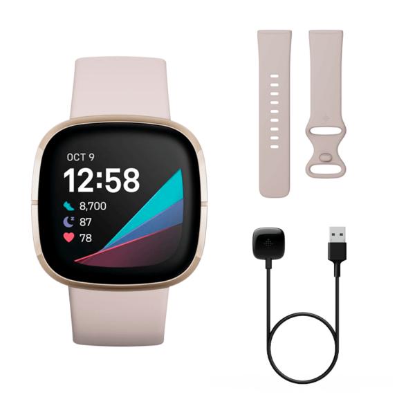 Fitbit Sense Acero inoxidable Dorado / Blanco Marfil