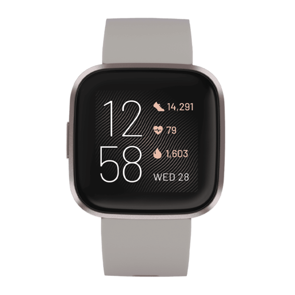 Fitbit Versa 2 Aluminio Gris Biebla / Gris Piedra